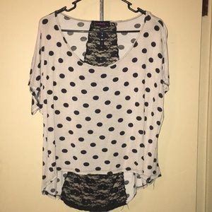 Polka dot lace top